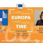 VIDEO Comisarul Corina Crețu și ministrul fondurilor europene, Rovana Plumb, în dialog cu cetățenii privind viitorul Europei la Zalău