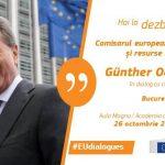 LIVE VIDEO & TEXT Comisarul european pentru buget Günther Oettinger, prezent la București pentru un dialog cu cetățenii privind viitorul UE