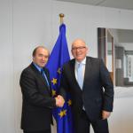 """Ministrul Justiţiei i-a prezentat lui Frans Timmermans """"stadiul procedurii interne şi evoluţiile în ceea ce priveşte modificarea legilor justiţiei"""""""