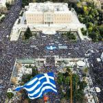 """Sute de mii de oameni au ieșit în stradă la Atena. Grecii au manifestat împotriva folosirii denumirii de """"Macedonia"""" de către fosta republică iugoslavă"""