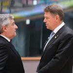 CORESPONDENȚĂ | Președintele Parlamentului European, înaintea discursului lui Klaus Iohannis privind viitorul Europei: Rolul României, esențial pentru o Uniune Europeană bazată pe libertate și stat de drept