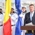 Ziua Marinei Române. Președintele Klaus Iohannis și ministrul Apărării Mihai Fifor participă la cel mai mare spectacol naval al anului