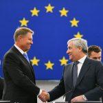 Președintele PE Antonio Tajani: Preşedintele Klaus Iohannis a prezentat o viziune clară, în care România joacă un rol esenţial pentru construcţia unei Europe mai eficiente