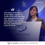 Mara Mareș, aleasă vicepreședinte în cadrul organizației de tineret a Partidului Popularilor Europeni