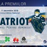 LIVE 11 decembrie, ora 17:00 PatriotFest – Gala primului concurs de inovare la nivel de prototip din domeniul securității naționale