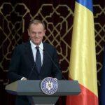 Președintele Consiliului European, polonezul Donald Tusk, discurs emoționant în limba română la lansarea președinției României la Consiliul UE: Apărați valorile europene cum a apărat Helmuth Duckadam în 1986